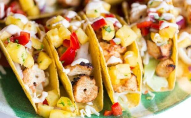 The Most Amazing Chicken and Shrimp Tacos