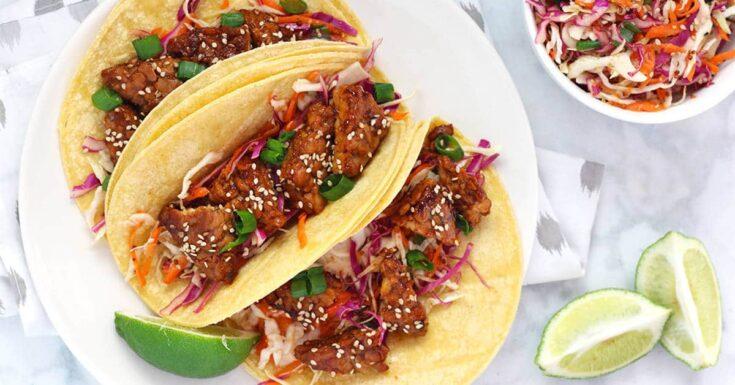 Teriyaki Tempeh Tacos
