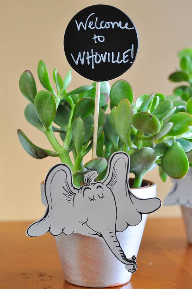 Dr. Seuss Is In The Garden - Horton Flower Pots