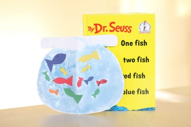 One Fish, Two Fish, Red Fish, Blue Fish: Dr Seuss Fish Bowl Craft