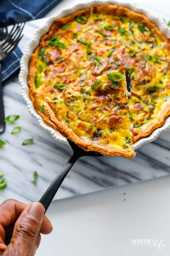 Loaded Ham and Spinach Quiche