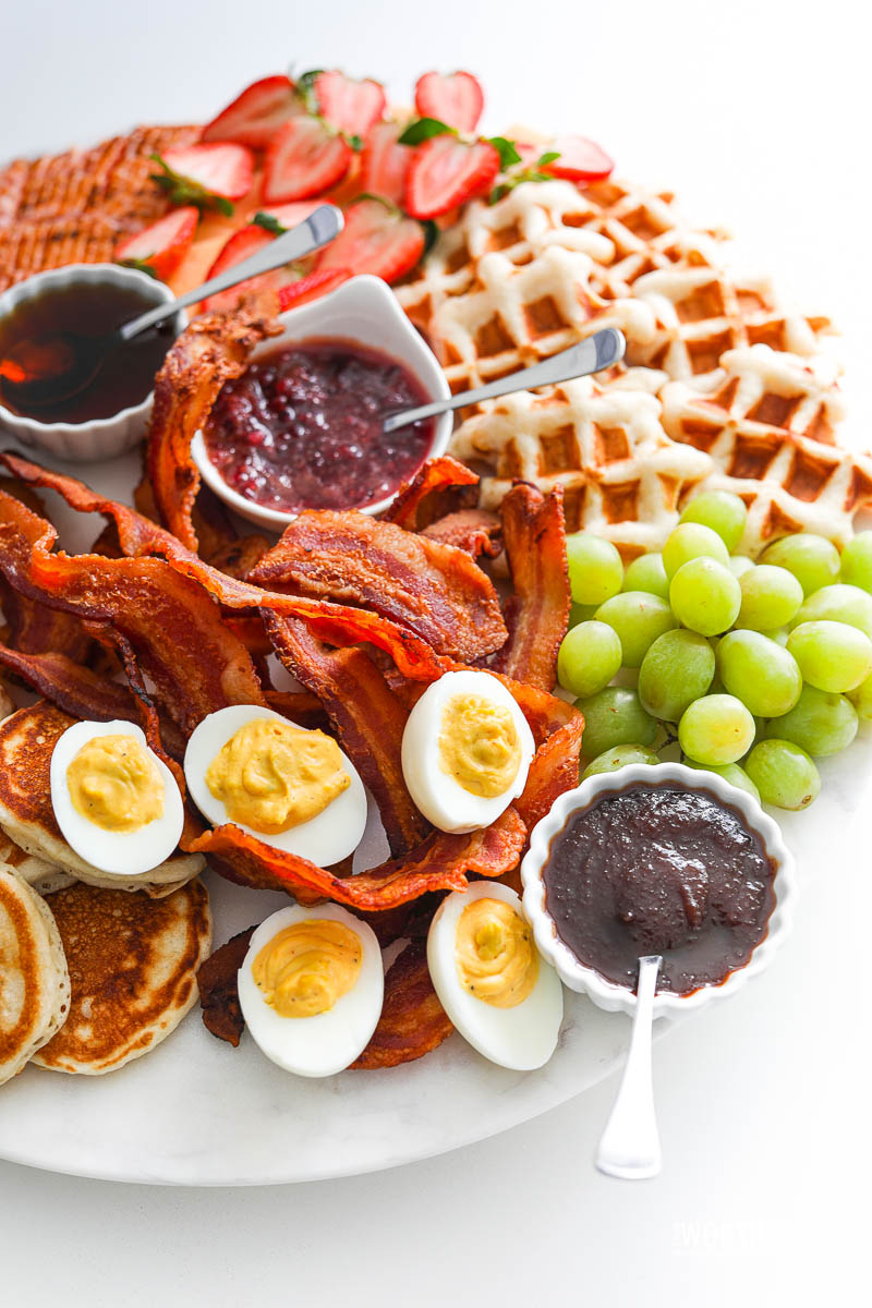 Brunch ideas with pancakes and waffles