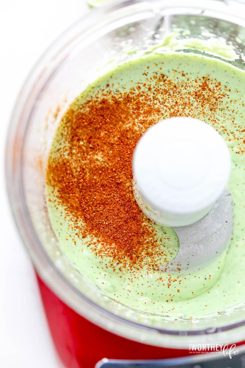 spicy avocado crema