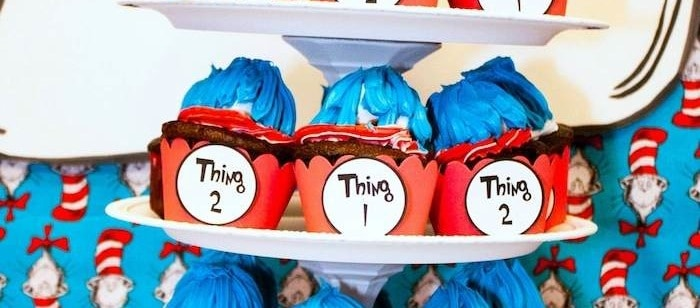 Thing 1 and Thing 2 Twin Birthday Party {Ideas, Supplies, Decor}
