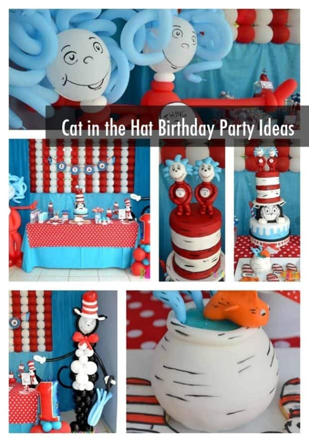 Cat in the Hat First Birthday Party