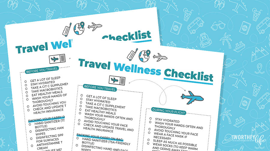 Travel Wellness Checklist printable