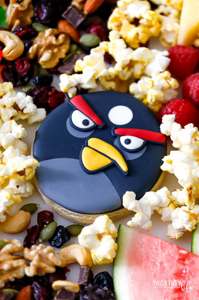 Angry Birds themed cookies