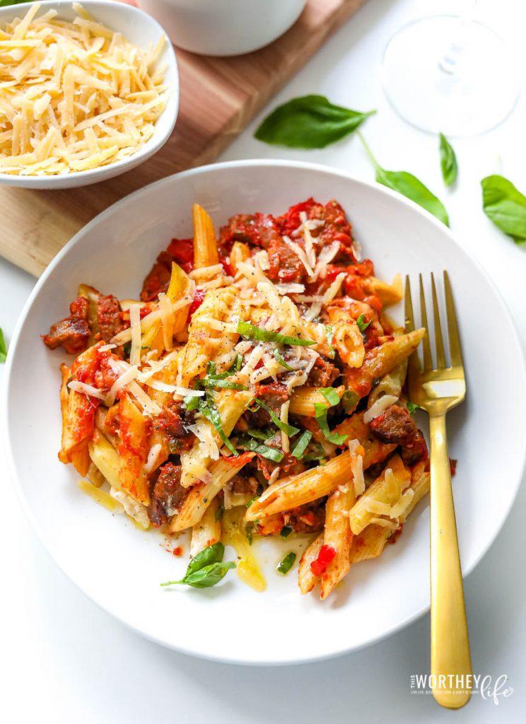 Easy pasta dinners