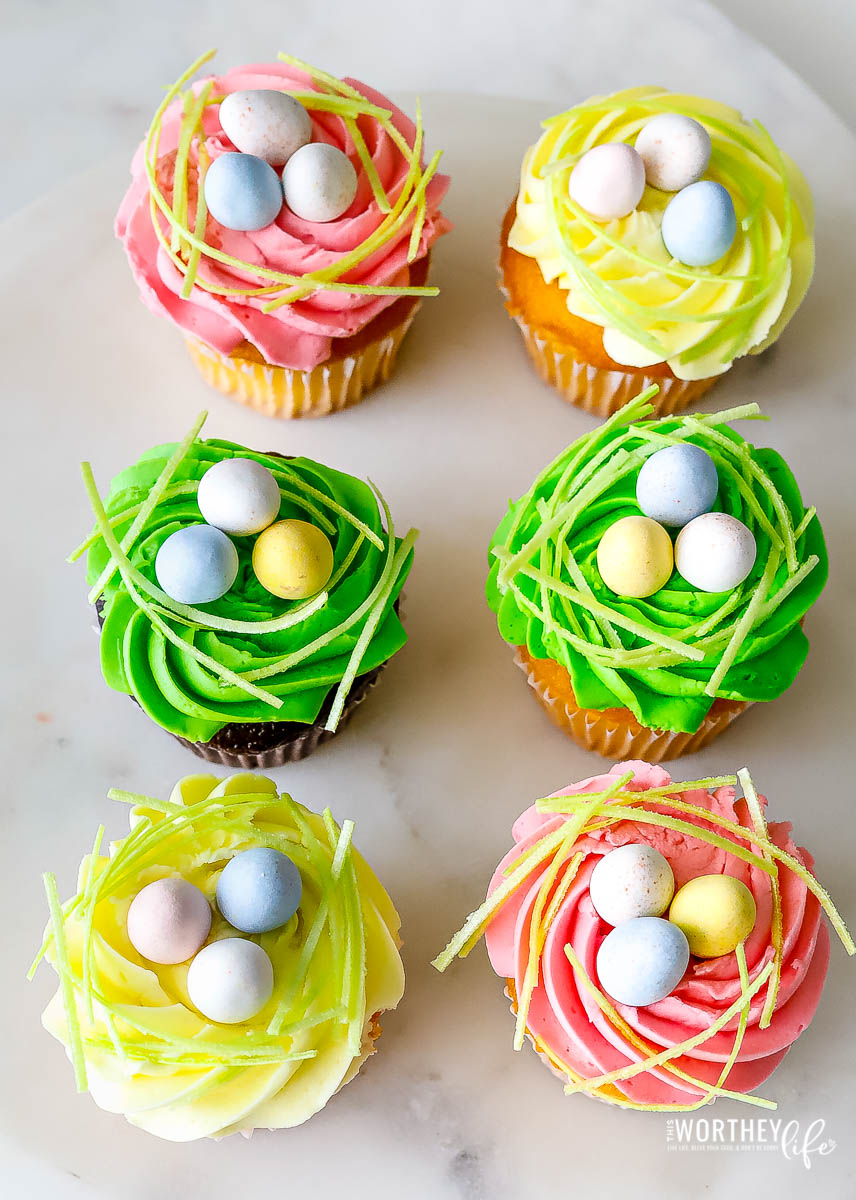 Easter Cupcakes with Cadbury Eggs