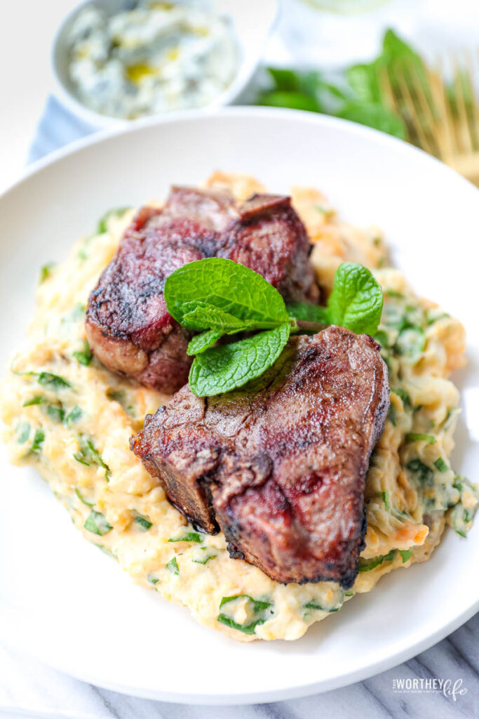 Garlic & Mint Grilled Aussie Lamb Chops