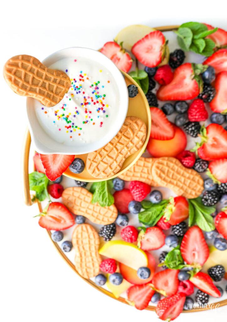 Strawberry Yogurt Sprinkle Dip