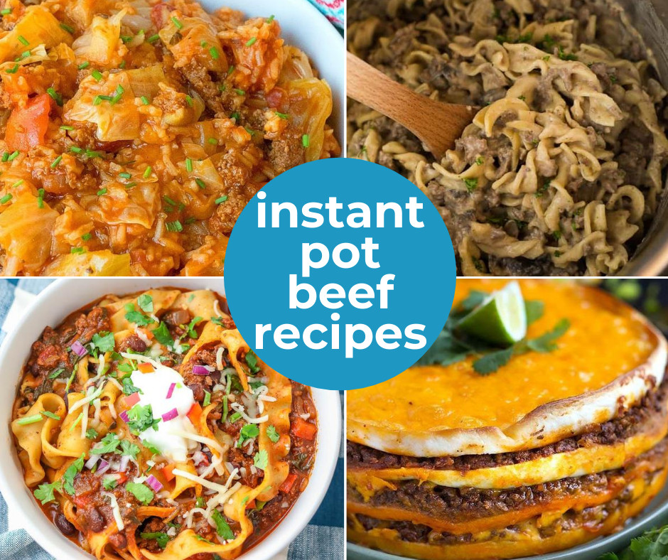 Have ground beef on hand? Get the instant pot out and try one of these easy + delicious recipes. We're sharing 20 Instant Pot Ground Beef recipes you can try; add a few to your meal plan.