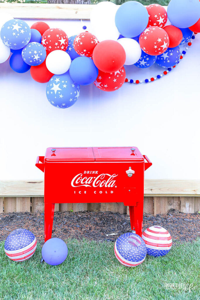 Red, White and Blue Balloon Garland