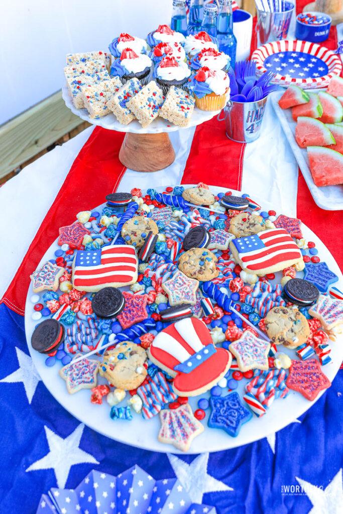 Red, White & Blue Dessert Table
