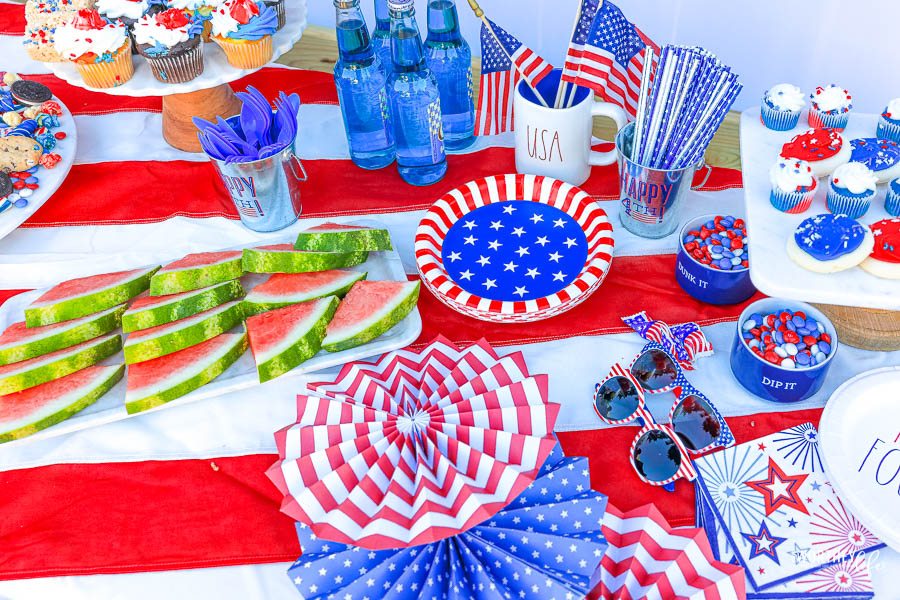 Red, White & Blue Supplies