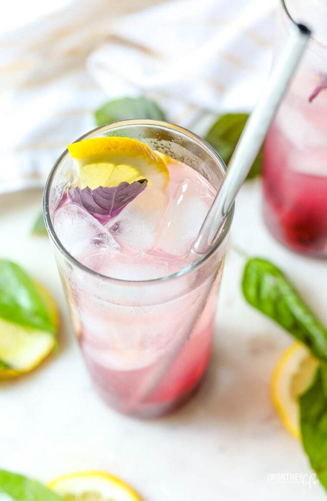 Berry Smash Basil Lemonade