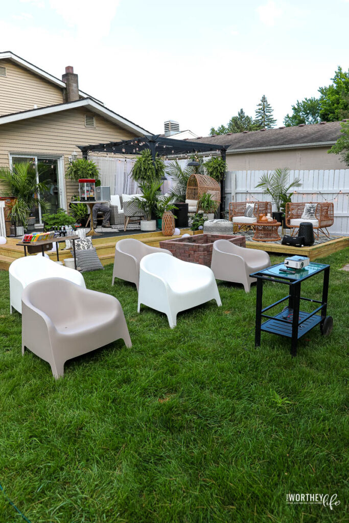 Outdoor Movie Seating Ideas