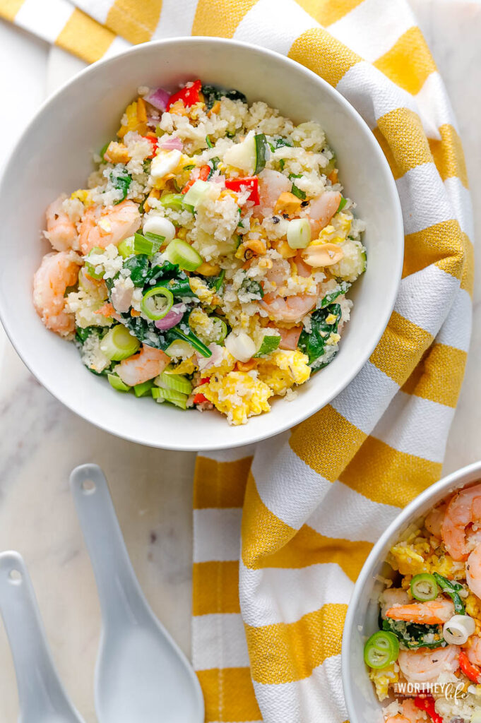 Cauliflower Rice Stir-Fry With Shrimp