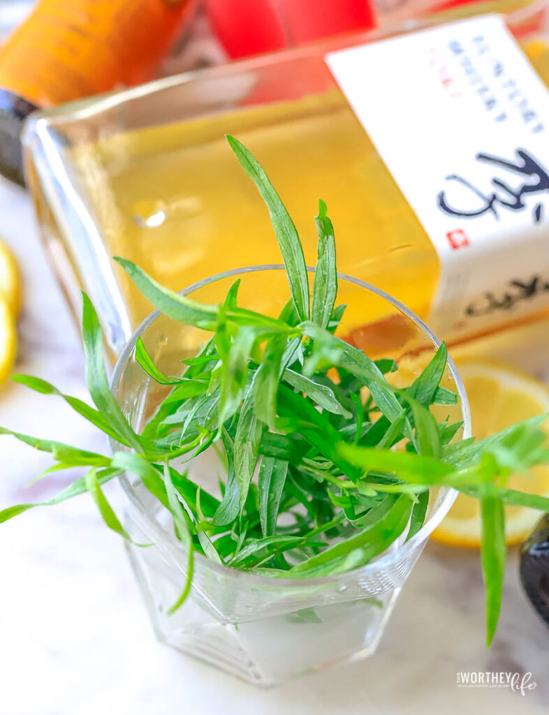 tarragon as a cocktail garnish