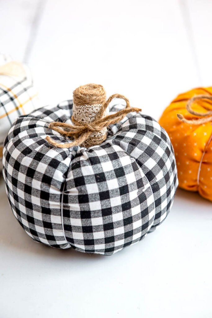 How to DIY Fabric Pumpkins