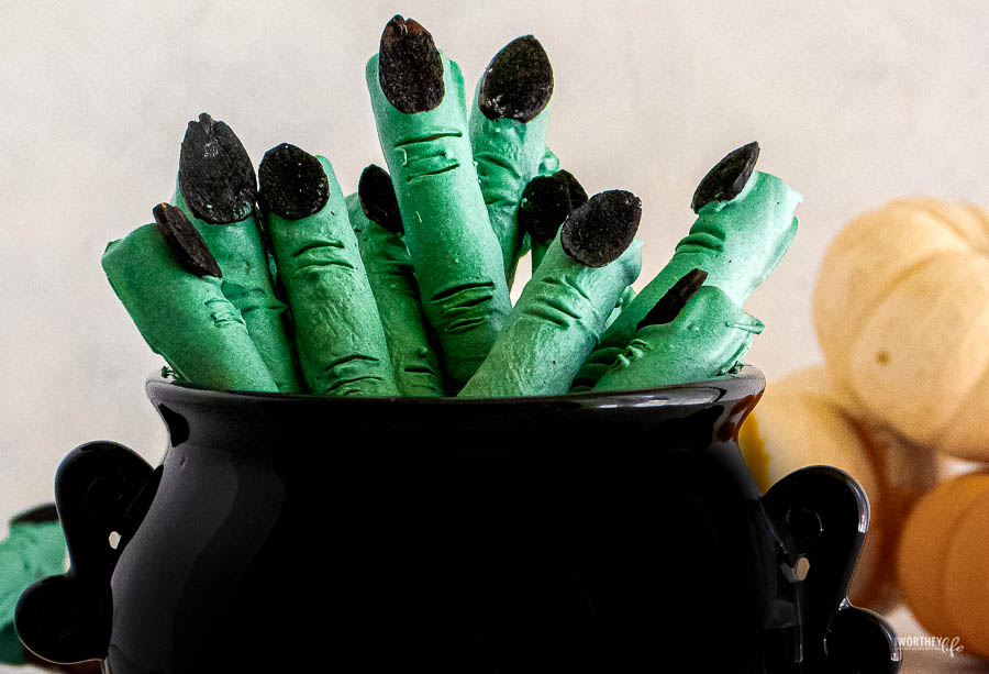 Witch Finger Pretzel Sticks