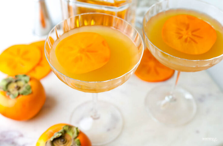 apple cider persimmon cocktail