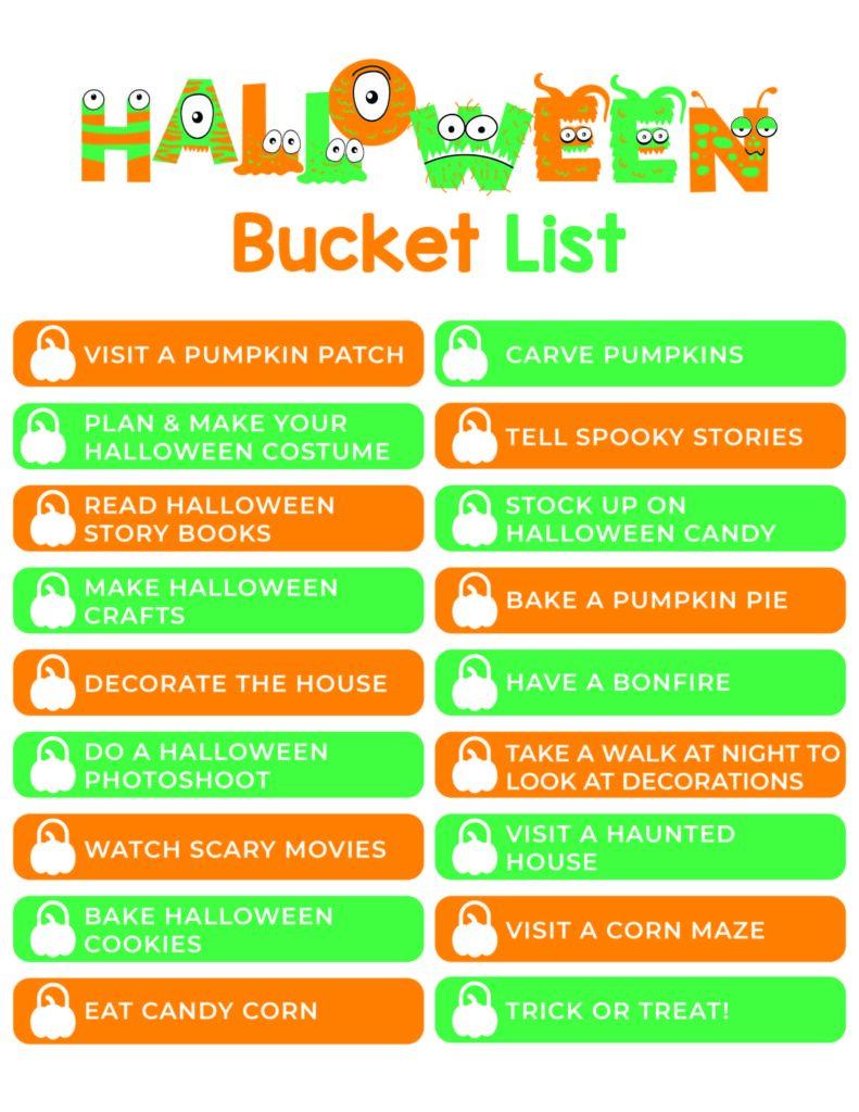 Halloween Bucket List 2020