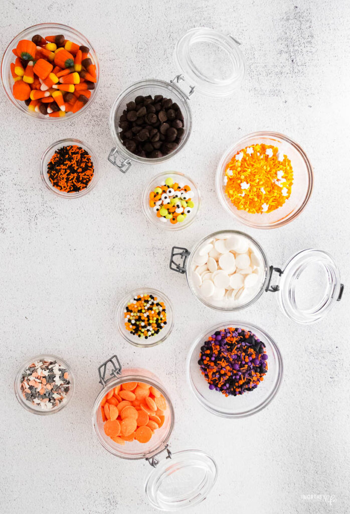 Ingredients for Halloween Bark