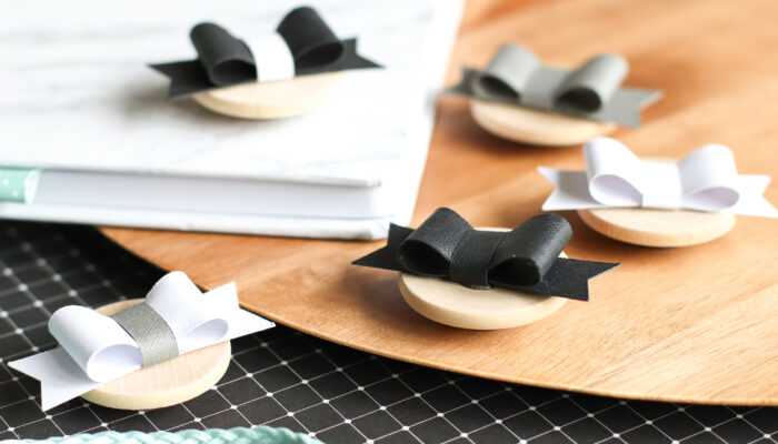 Pretty Paper Bow Magnets DIY With Cricut