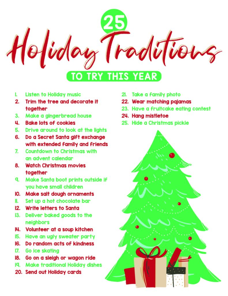 holiday traditions for 2020