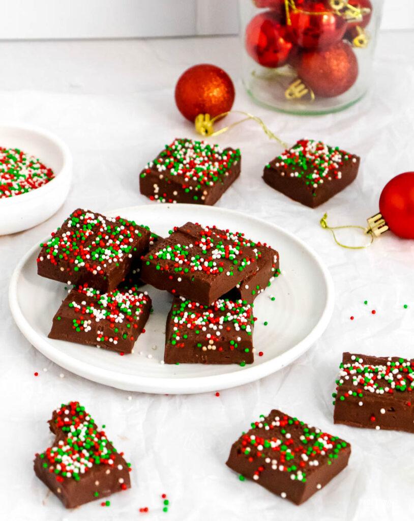 3-Ingredient Christmas Fudge
