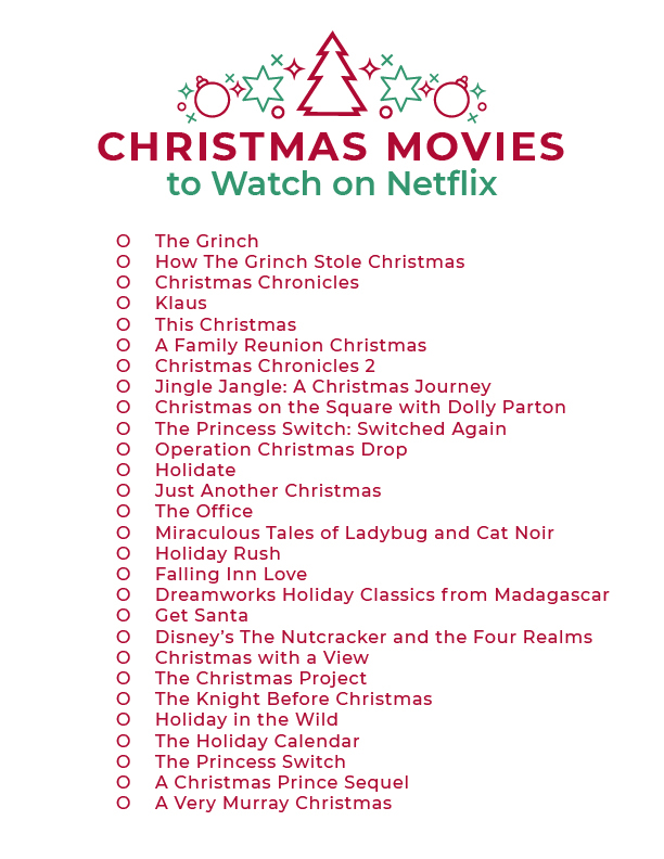 Christmas Movies on Netflix in 2020