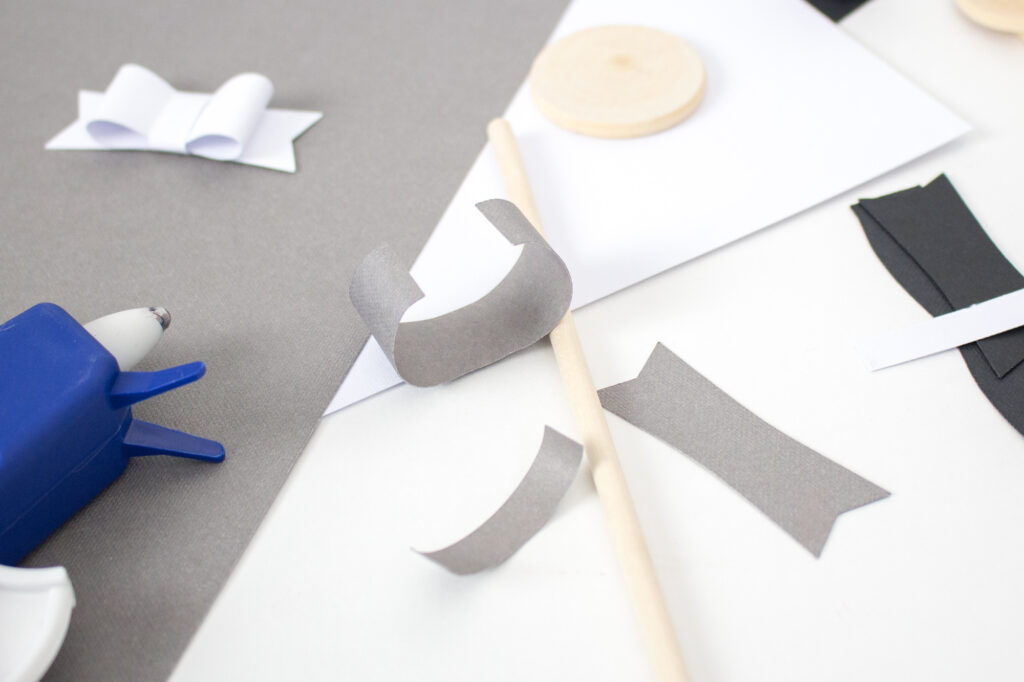 Assembling the Paper Magnet Bows