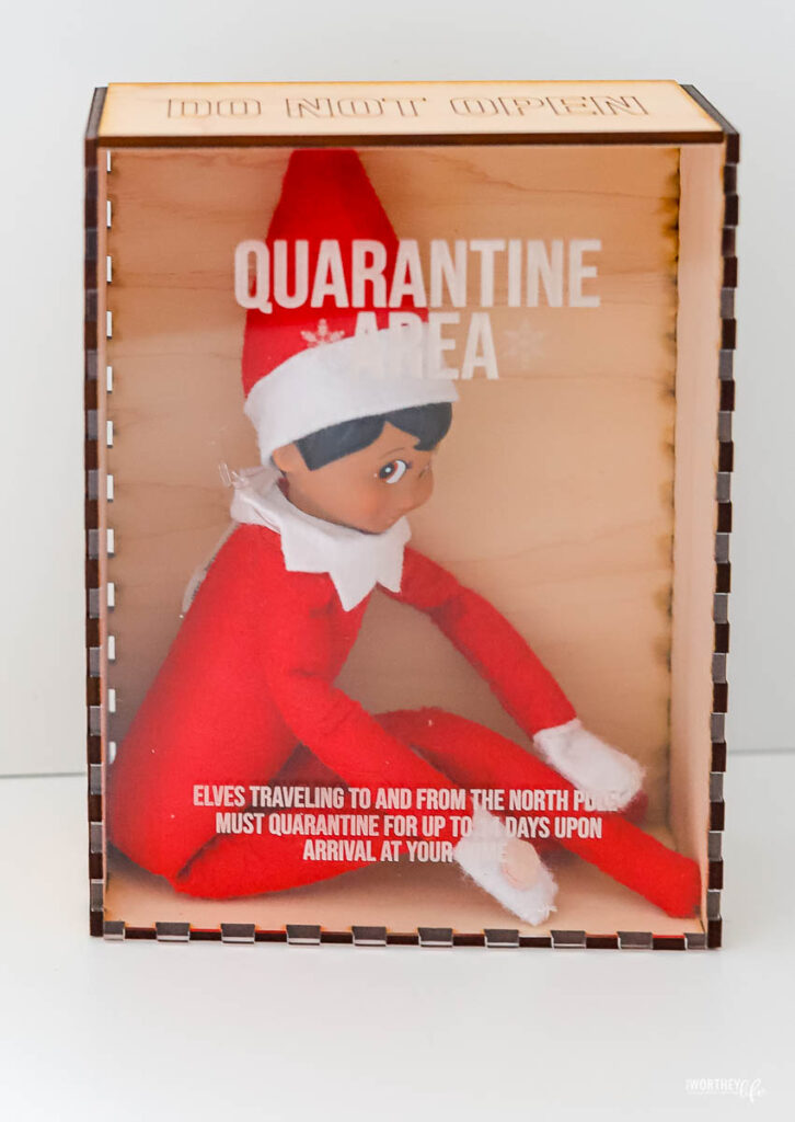 elf on the shelf in quarantine