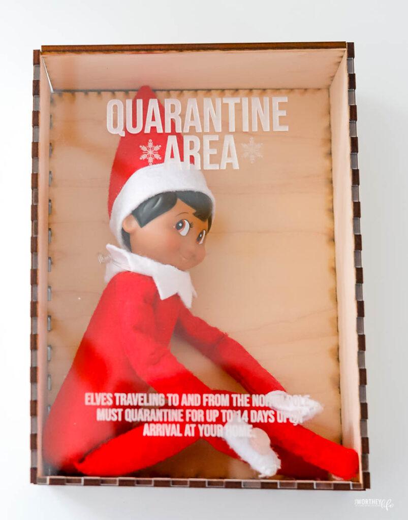 elf on the shelf quarantine in a box