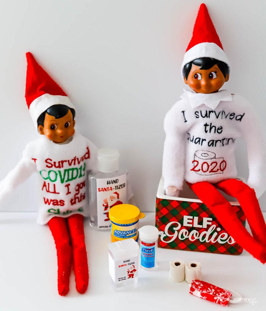 elf on the shelf covid shirts