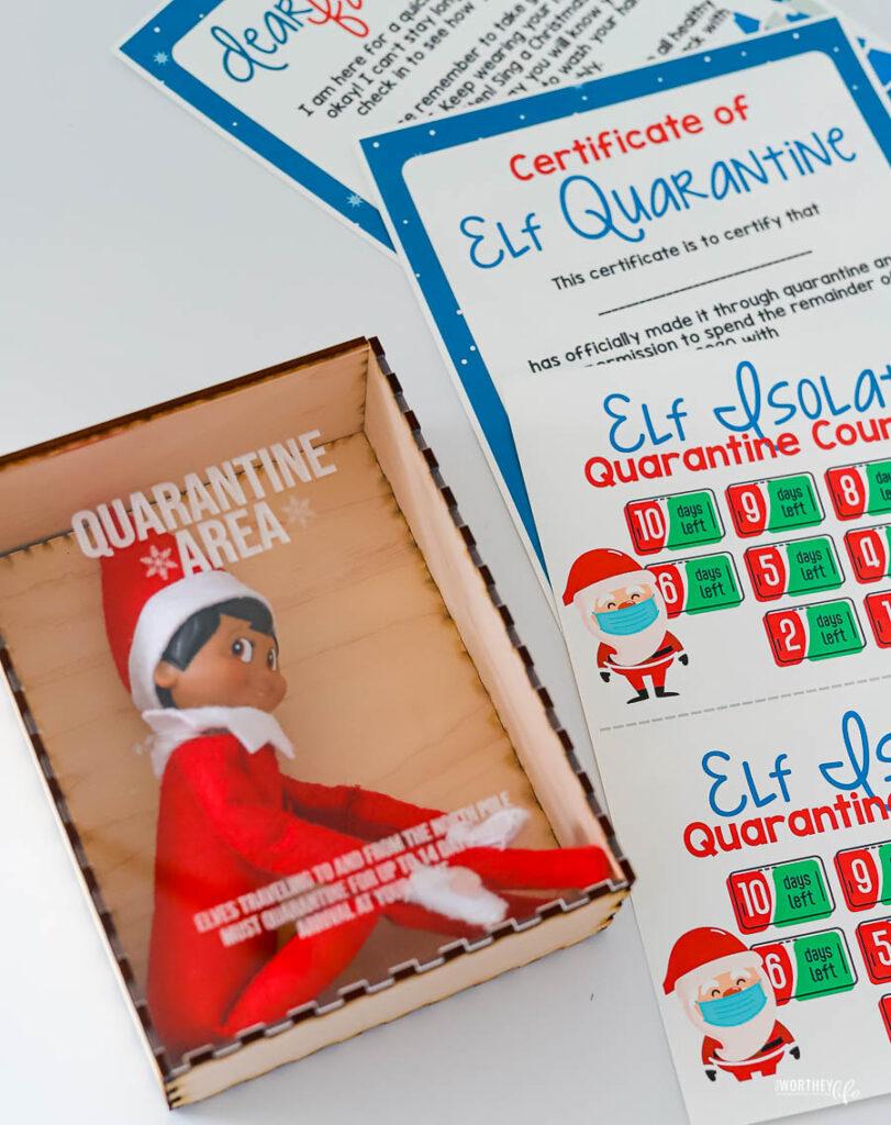 Elf on the Shelf Quarantine Ideas | Free Printables