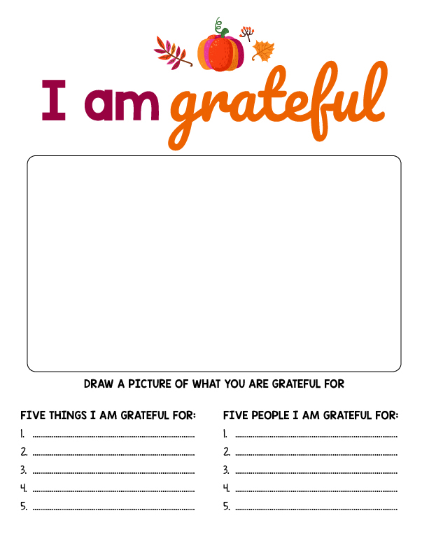 Thanksgiving Kid Activities Printables