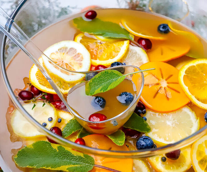 holiday mocktail punch