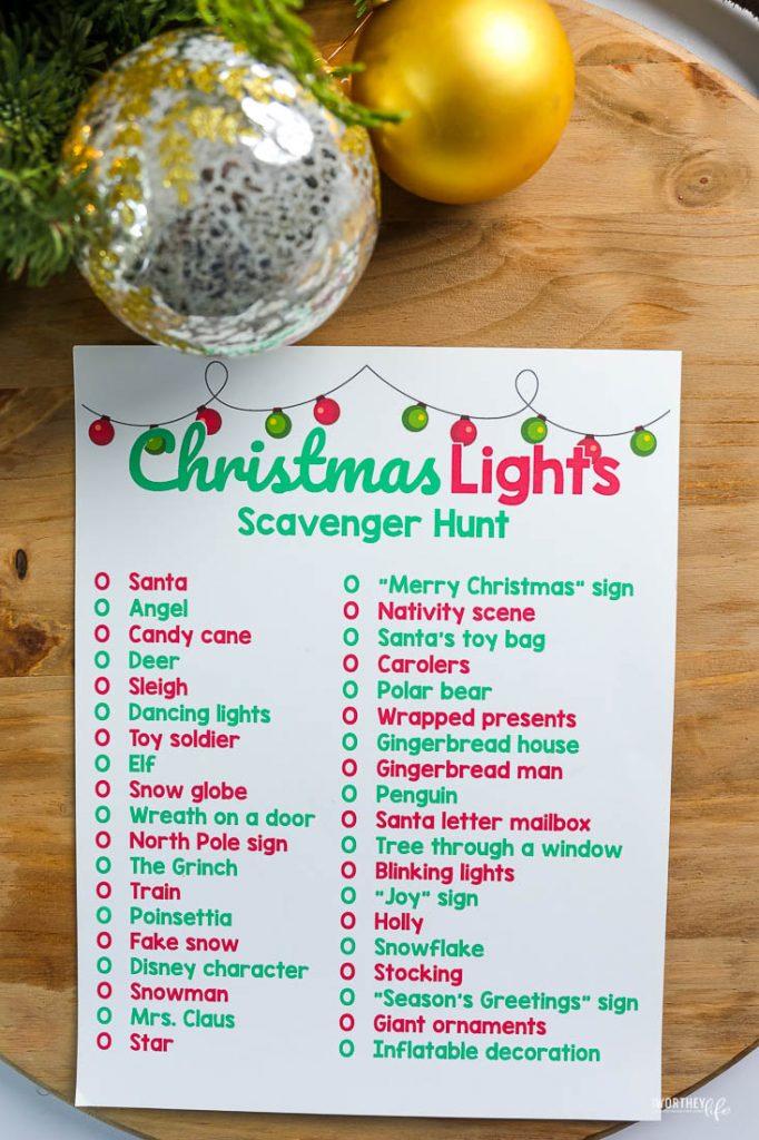 christmas holiday printables