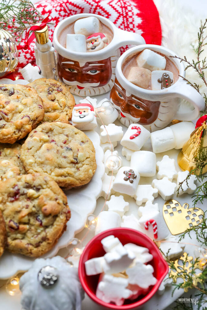 Cranberry + White Chocolate Toffee Cookies