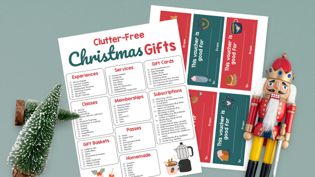 Clutter-Free Christmas gifts