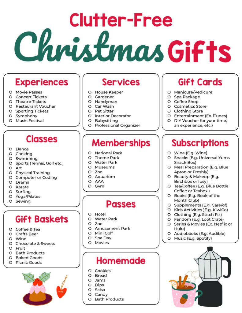 Clutter Free Christmas Gifts For 2020