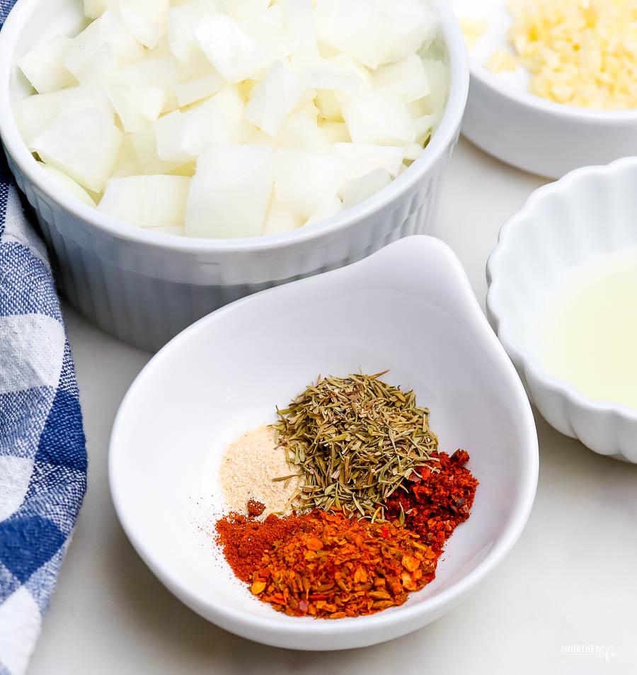 ingredients to make Chorizo Lime Marinade