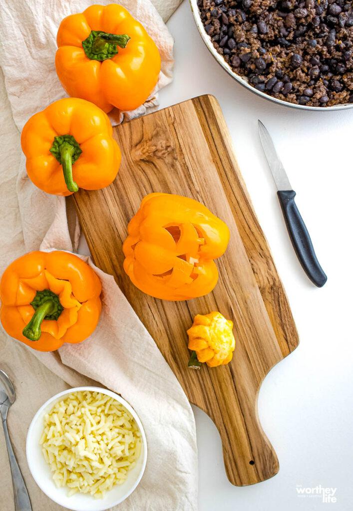 tips on making jack o lantern peppers